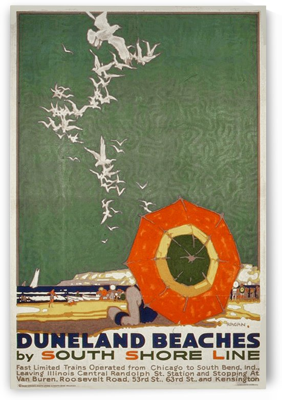 1928 Duneland Beaches poster by VINTAGE POSTER
