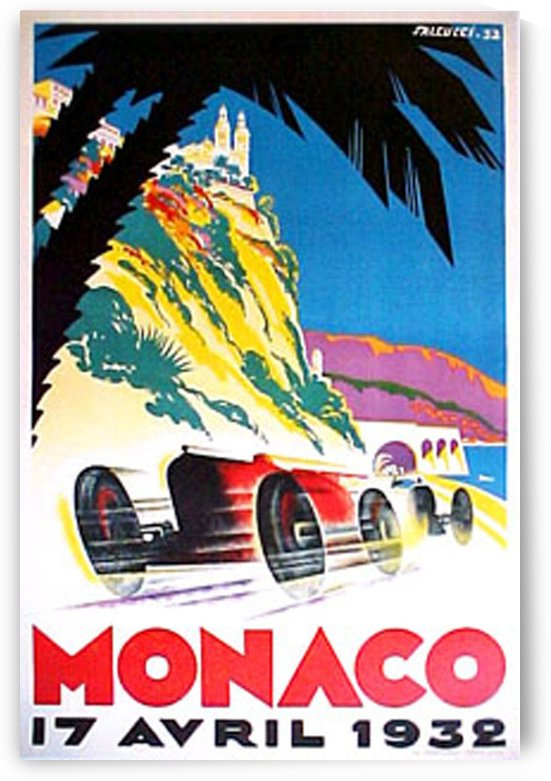 Monaco Grand Prix 1932 auto race rally art poster by VINTAGE POSTER