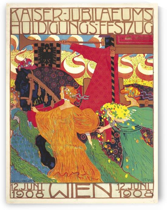 Kaiser Jubilaeums Huldigungs Festzug vintage poster by VINTAGE POSTER