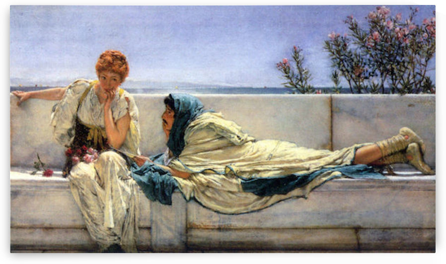 Asking by Alma-Tadema by Alma-Tadema