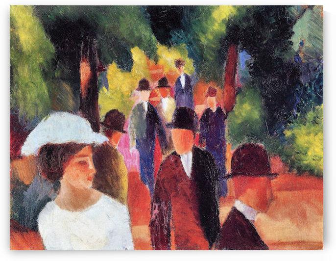 Promenade II by August Macke by August Macke
