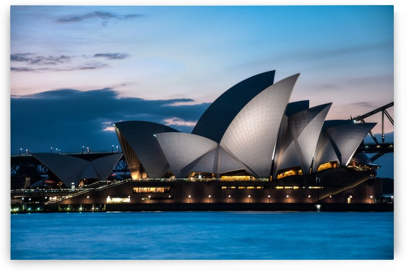 Glowing Opera House by DLPSquared