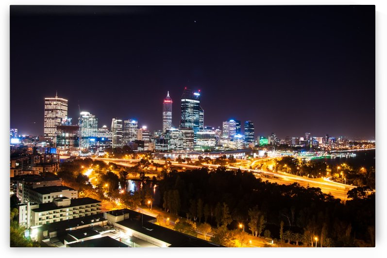 City Hustle at Night, Perth by DLPSquared
