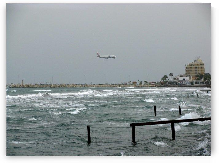 Landing in Larnaca by Vlad Radulian