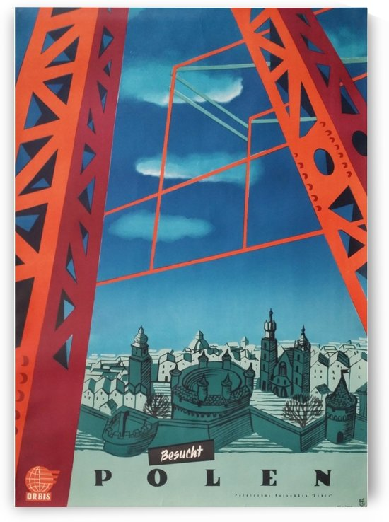 Poland travel poster German version original vintage poster by VINTAGE POSTER
