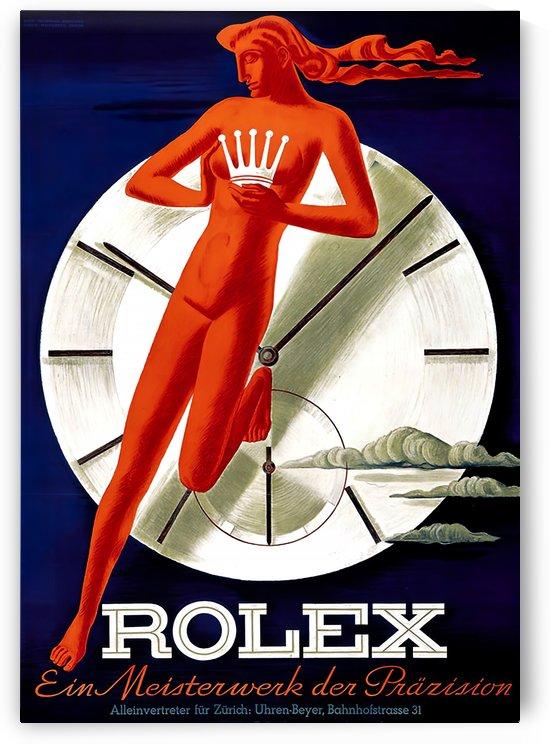 1942 Beyer Zurich Rolex Poster by VINTAGE POSTER