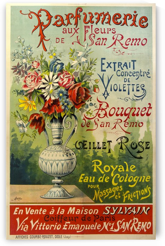 Parfumerie aux Fleurs de San Remo poster by VINTAGE POSTER