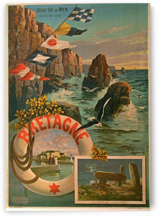Bretagne Vintage Travel Poster by VINTAGE POSTER