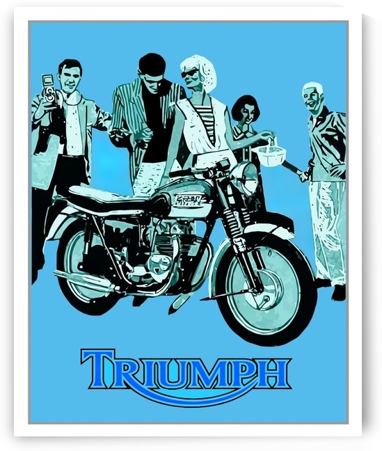 Triumph Motorcycle 1960 Vintage Advertising Poster by VINTAGE POSTER