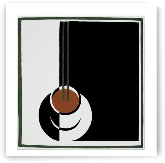 Vintage Art Deco, Cup of Coffee with Steam Poster by VINTAGE POSTER