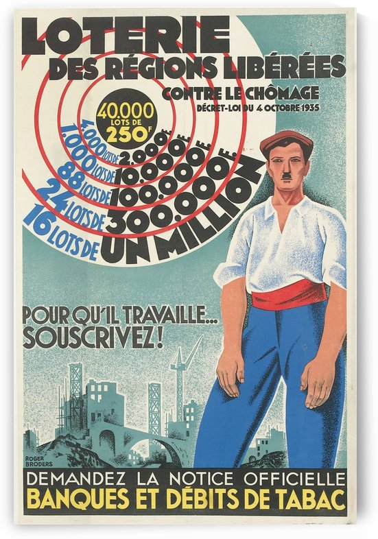 Loterie des Regions Liberees poster by VINTAGE POSTER