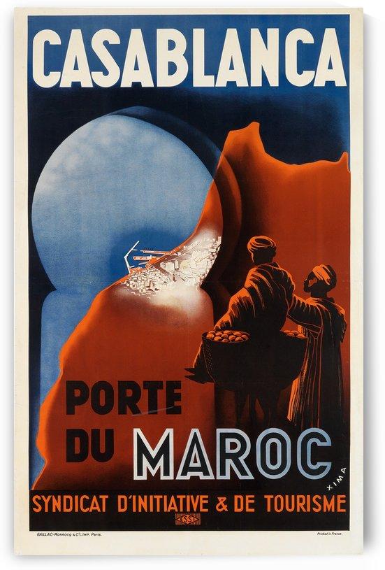 Casablanca Port du Maroc poster by VINTAGE POSTER