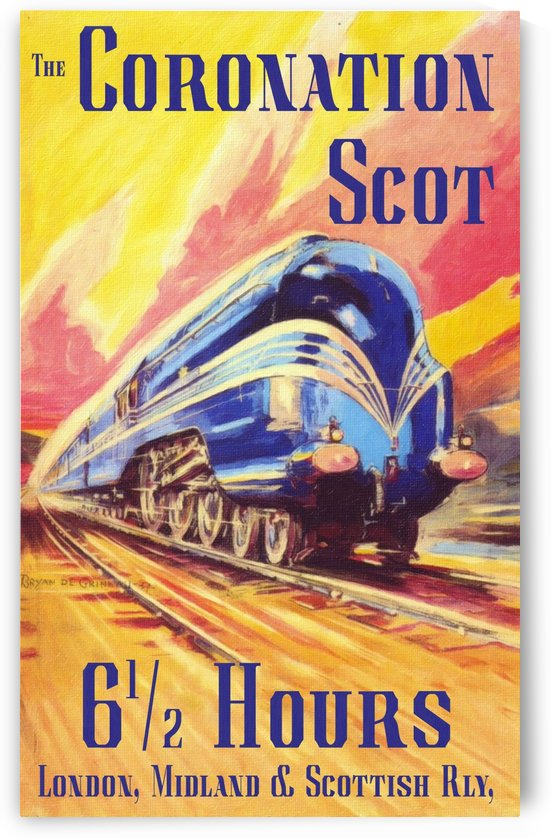 The Coronation Scot travel poster by VINTAGE POSTER