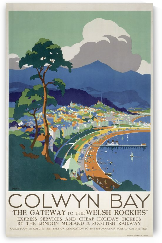 Colwyn Bay vintage travel poster by VINTAGE POSTER