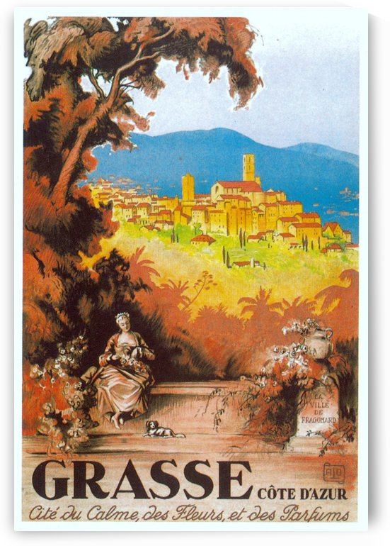Grasse French Riviera art deco poster by VINTAGE POSTER