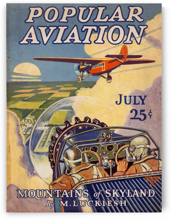 Popular Aviation Mountains of Skyland poster by VINTAGE POSTER