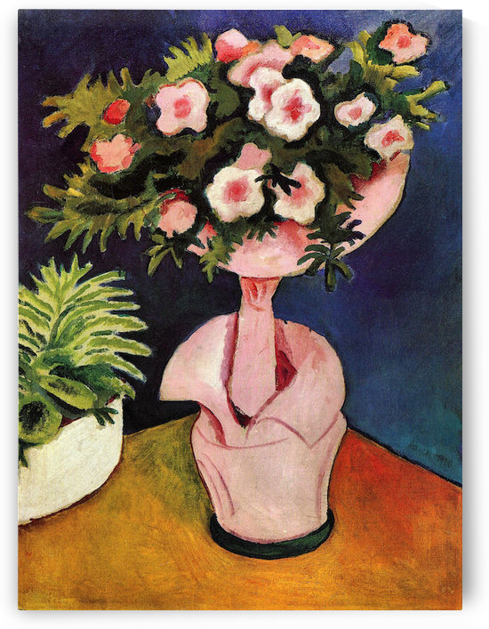Rose Azaleas II by August Macke by August Macke