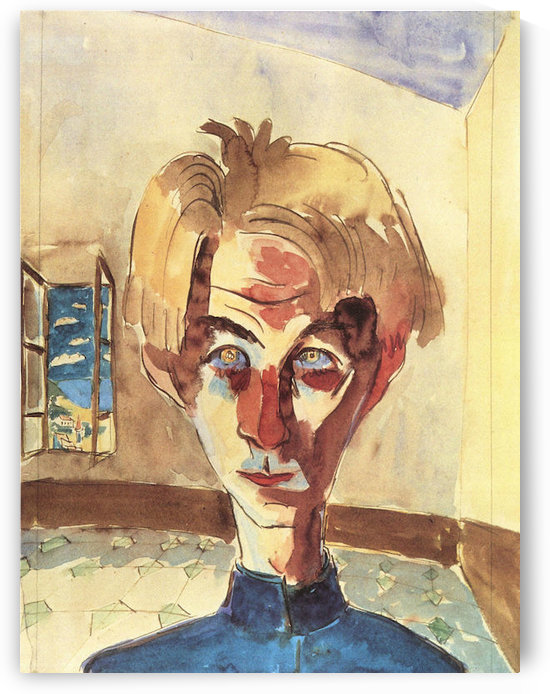 Self Portrait in a room by Walter Gramatte by Walter Gramatte