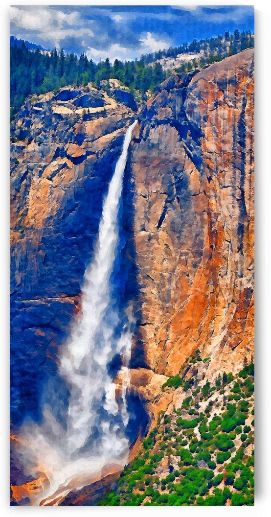 Yosemite Park waterfall1 by Sam Rad