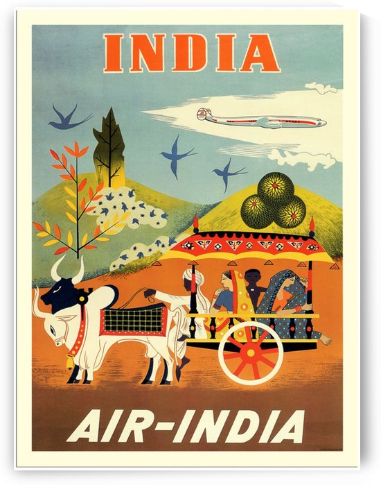 Air India poster for India by VINTAGE POSTER