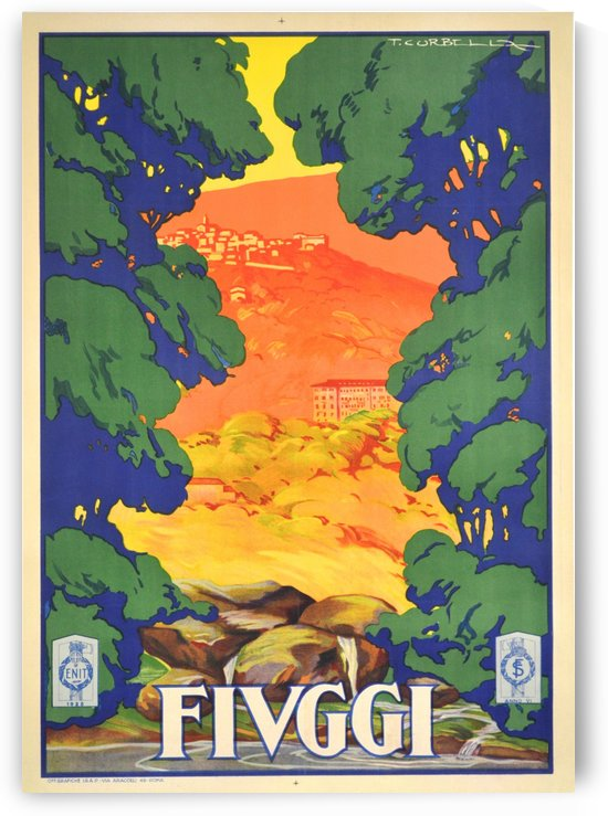 Indian River Poster for Fiuggi by VINTAGE POSTER