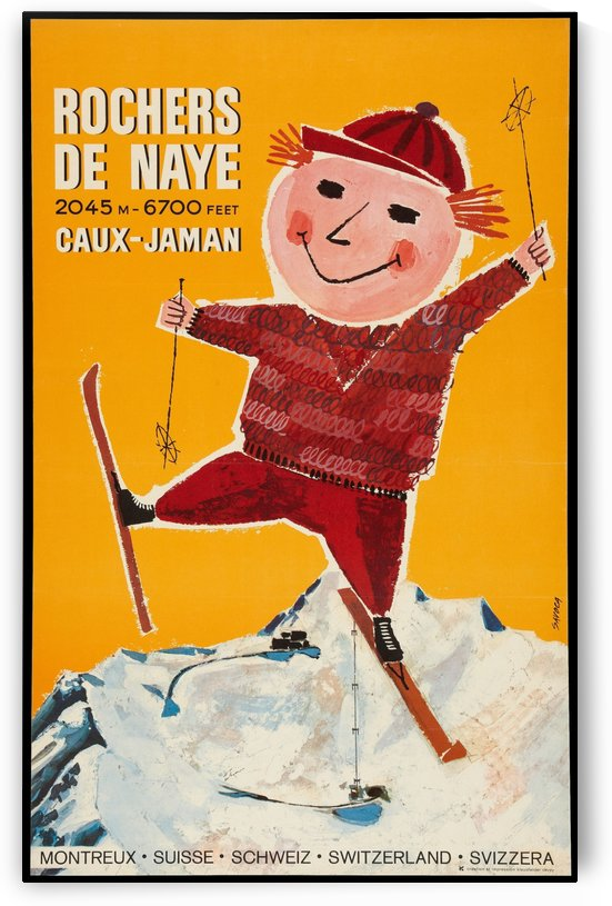 Rochers de Naye Swiss poster by VINTAGE POSTER