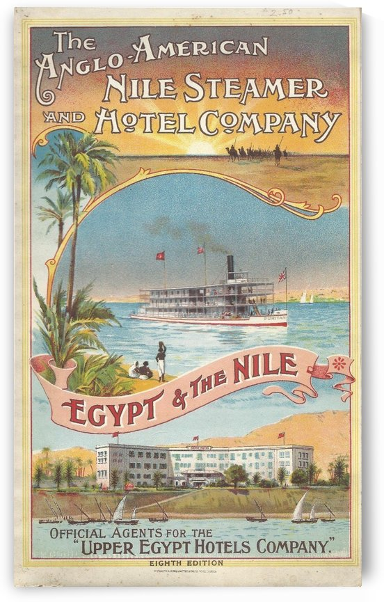 Egypt and The Nile travel poster by VINTAGE POSTER