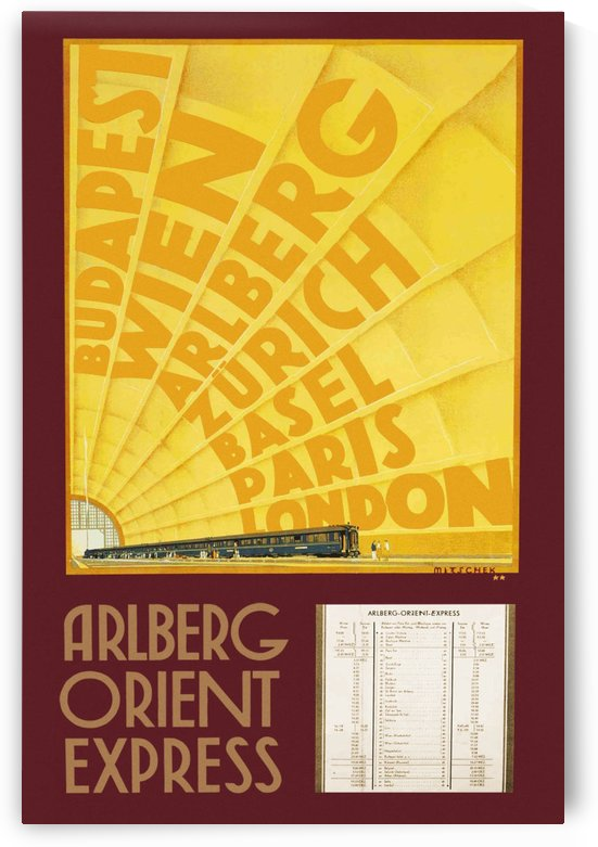 Arlberg Orient Express poster, 1931 by VINTAGE POSTER