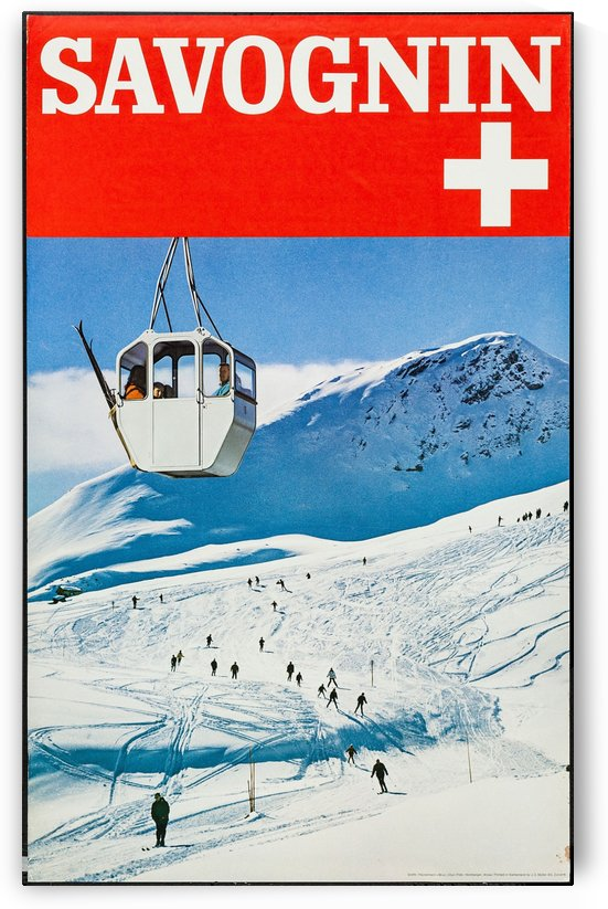 Savognin travel poster by VINTAGE POSTER