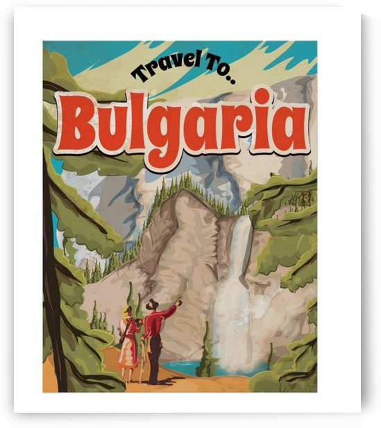 Bulgaria Vintage Travel Poster by VINTAGE POSTER