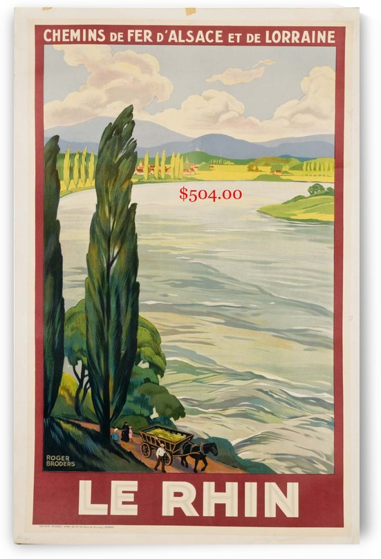 1900 Travel Poster of the Rhine by VINTAGE POSTER