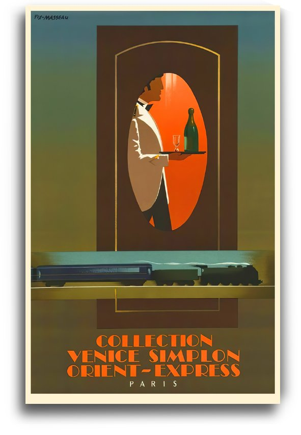 Simplon Orient Express French Poster by VINTAGE POSTER