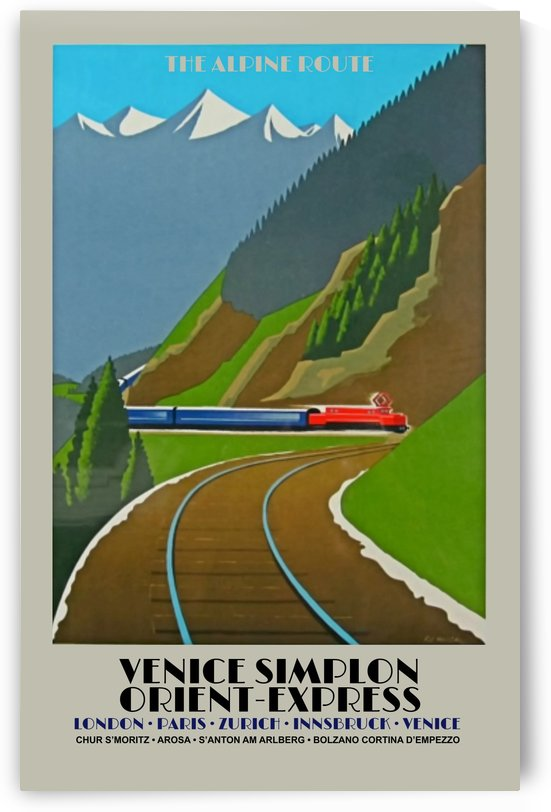 Simplon Orient Express The Alpine Route by VINTAGE POSTER
