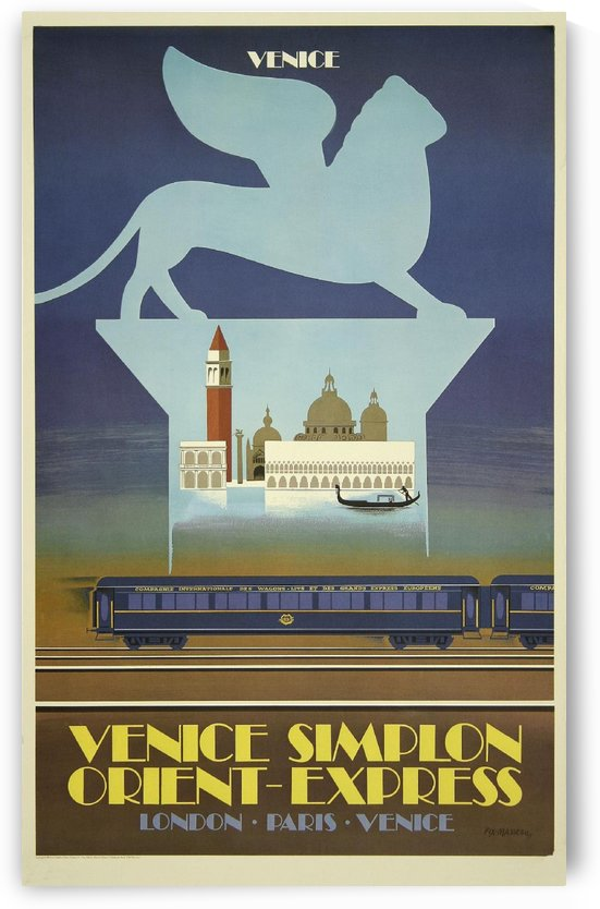 Venice Orient Express Poster by VINTAGE POSTER