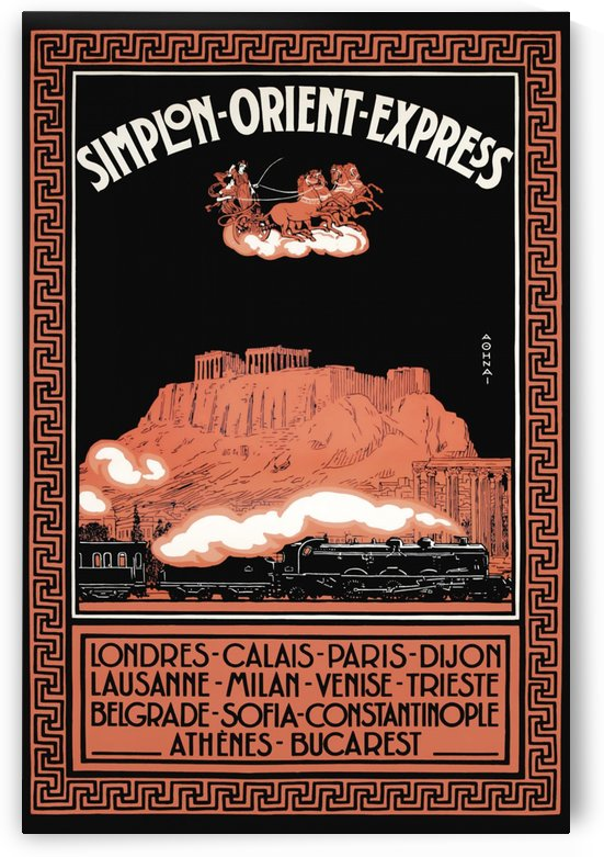 Simplon Orient Express poster, 1926 by VINTAGE POSTER