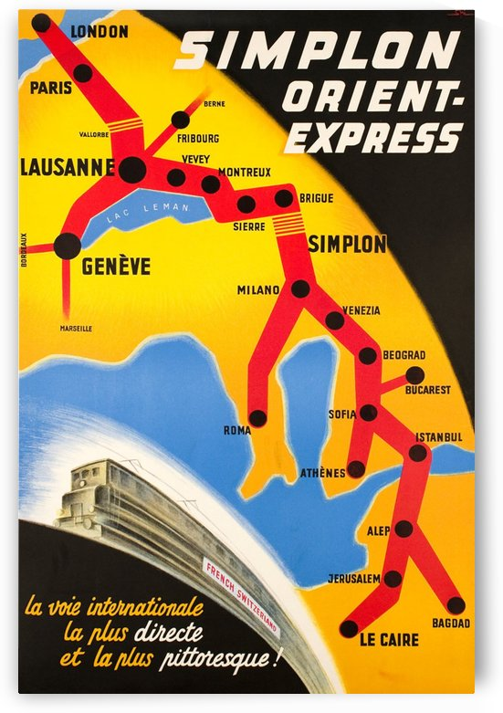 Simplon Orient Express poster, 1947 by VINTAGE POSTER