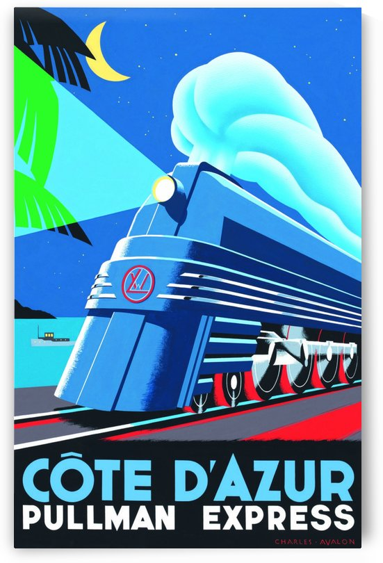 French Riviera Pullman Express Poster by VINTAGE POSTER