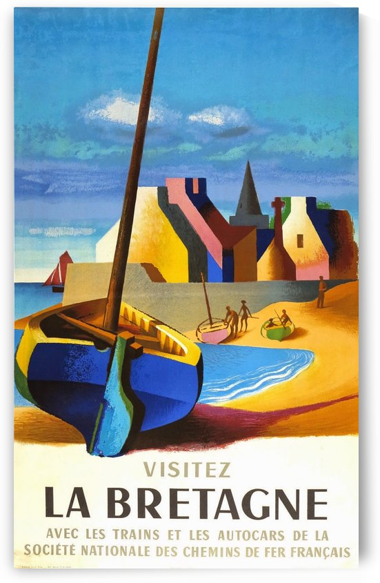 1958 Visit Brittany poster by VINTAGE POSTER