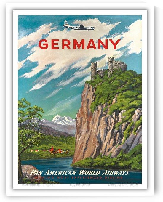 Germany Pan American World Airways vintage travel poster by VINTAGE POSTER