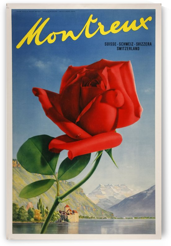 Montreux Switzerland Vintage Poster 1938 by VINTAGE POSTER