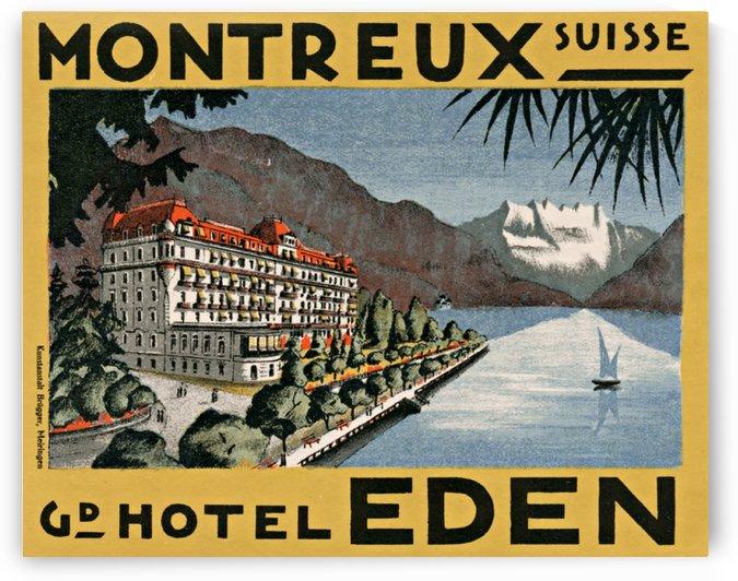 Montreux Switzerland Vintage Poster by VINTAGE POSTER