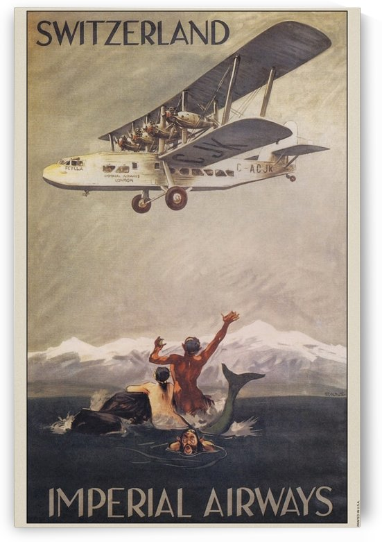 1935 Switzerland, Imperial Airways by VINTAGE POSTER