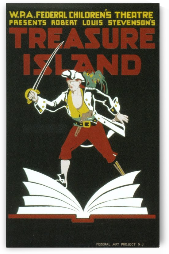 Vintage WPA Poster Treasure Island, 1930 by VINTAGE POSTER