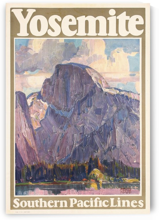 Yosemite National Park poster for South Pacific Lines by VINTAGE POSTER