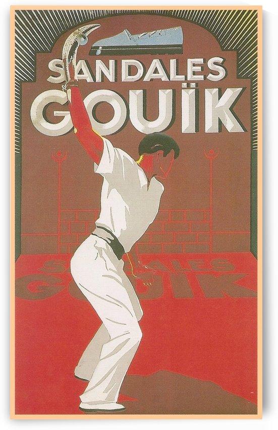 Sandales Gouik vintage poster by VINTAGE POSTER