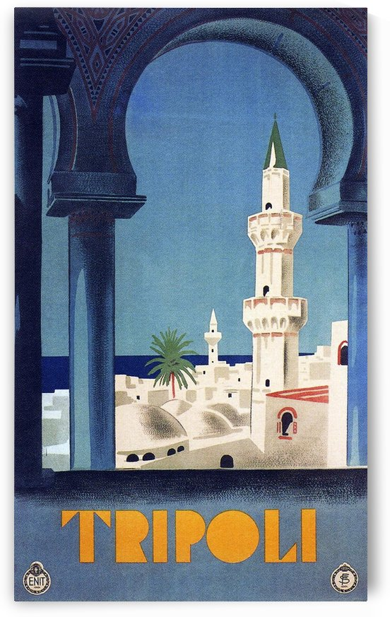 Tripoli travel poster by VINTAGE POSTER