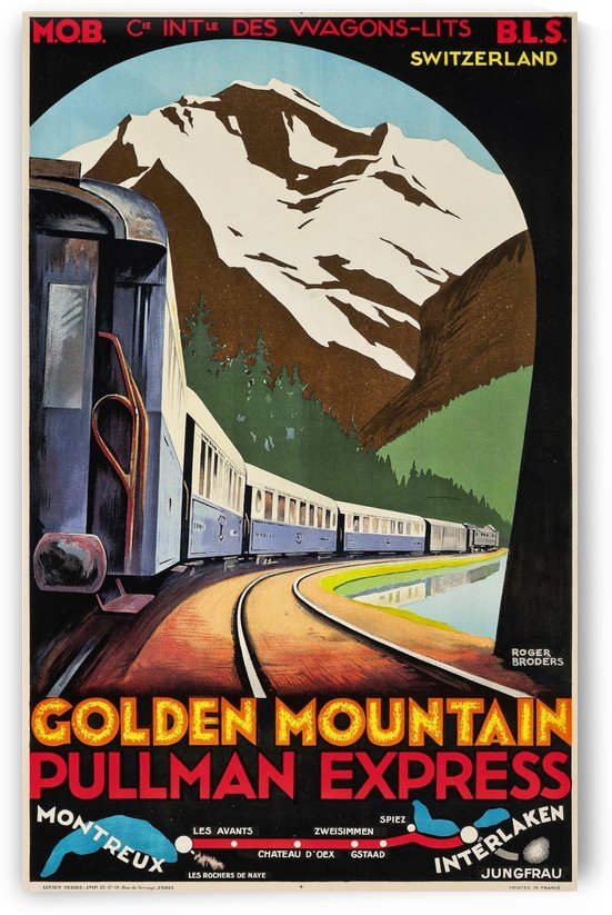 1930 Golden Mountain Pullman Express poster by VINTAGE POSTER