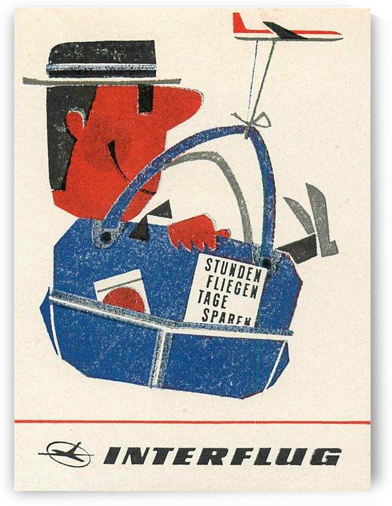 Interflug, the East German Airline vintage poster by VINTAGE POSTER