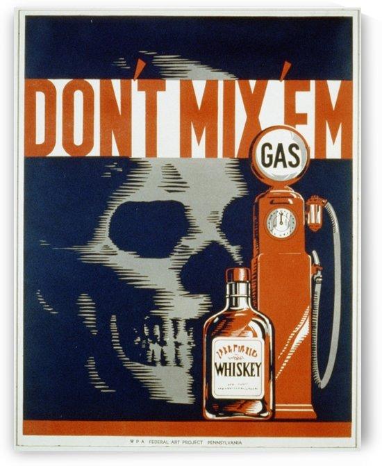 Dont mixem vintage poster by VINTAGE POSTER