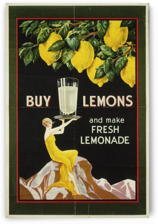 Buy lemons and make lemonade vintage poster by VINTAGE POSTER